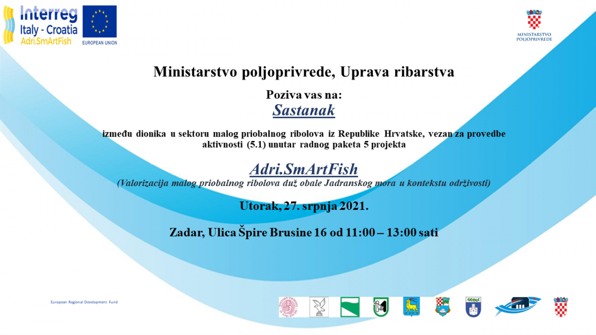 Poziv na sastanak dionika u segmentu malog priobalnog ribolova!